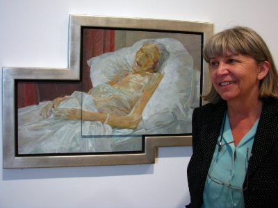Daphne Todd with 'Last Portrait of Mother'