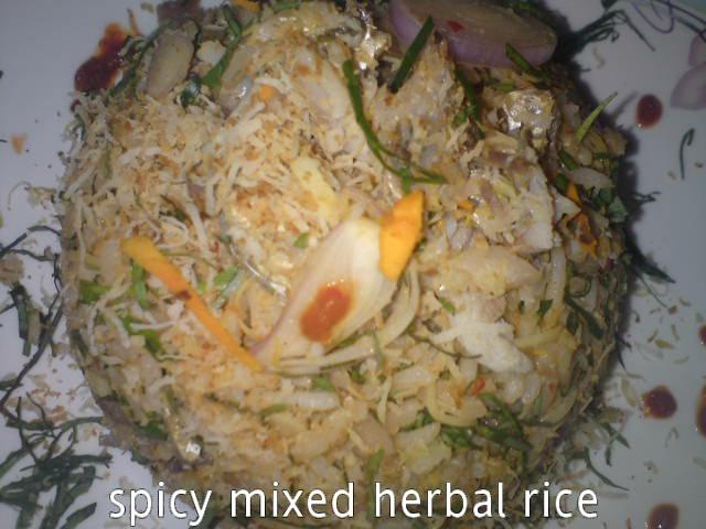 Cooking Pleasure: Spicy Nasi Ulam [Mixed Herbal Rice]