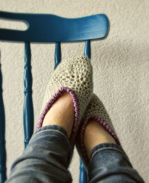Crochet slippers, a tutorial