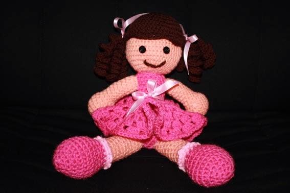 Crochet muñeca coletas