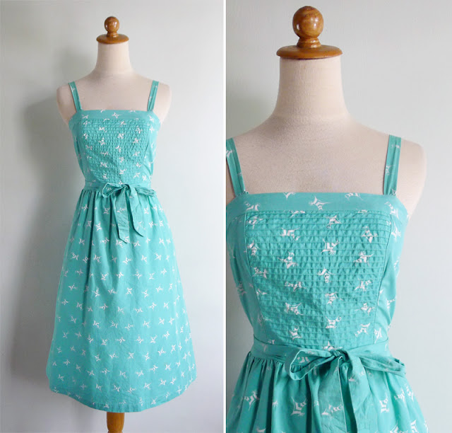 vintage 80's novelty print rooster sun dress
