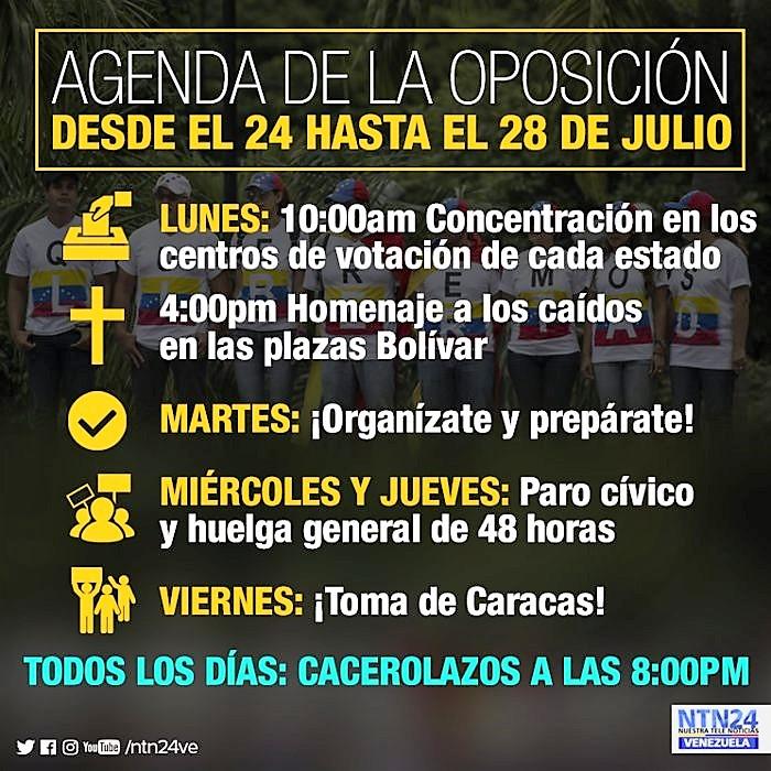 Semana de 24 a 28 de julho: Venezuela