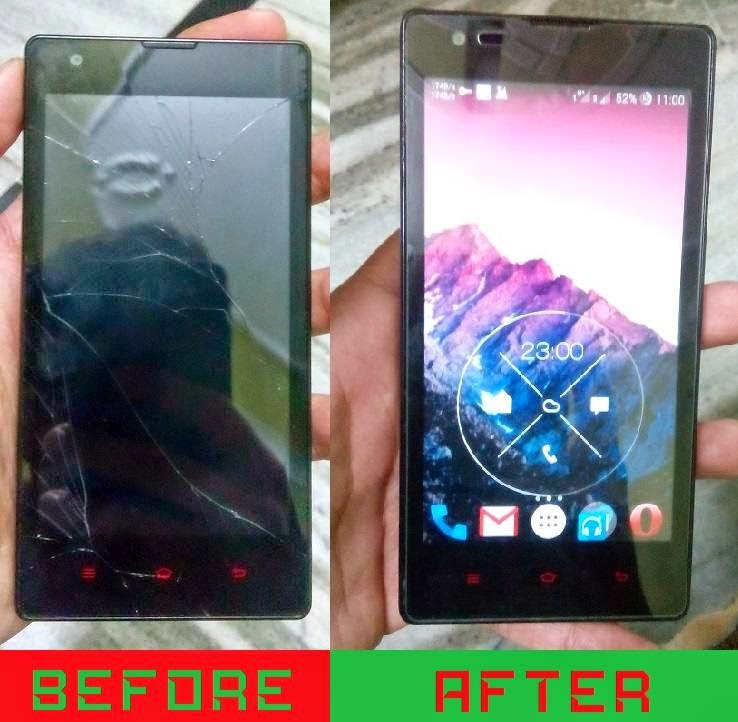 moto g cracked screen replacement india