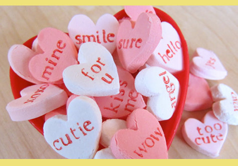 Homemade Valentine's Day Gift Ideas - Creative Ideas for Custom DIY Handmade Gifts - Homemade Customized Candy Conversation Hearts Recipe