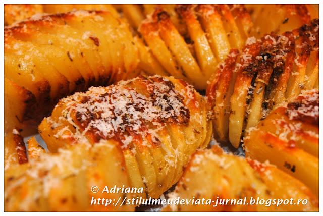cartofi acordeon aurii