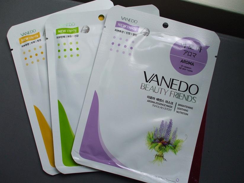 Vanedo Sheet Masks Lemon Green Tea Aroma
