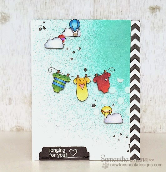 Longing for You baby card by Samantha Mann | Stamps by Newton's Nook Designs