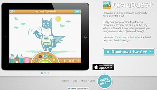dibuja en tu iPad con DrawQuest - http://www.dominioblogger.com