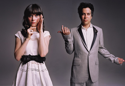 I love this dress that Zooey Deschanel is wearing in this She Him pic