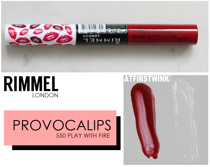 Rimmel Provocalips 550 - Play With Fire review and swatches