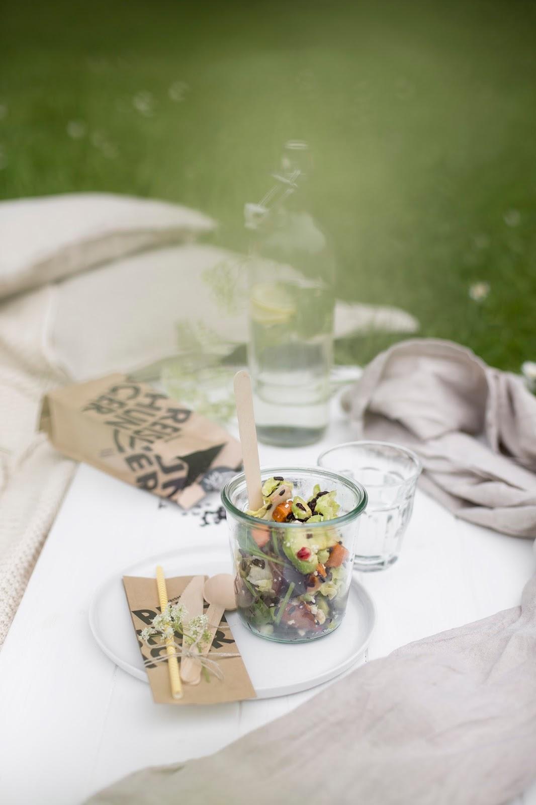 Picknick mit Reissalat Reishunger #vegweeks