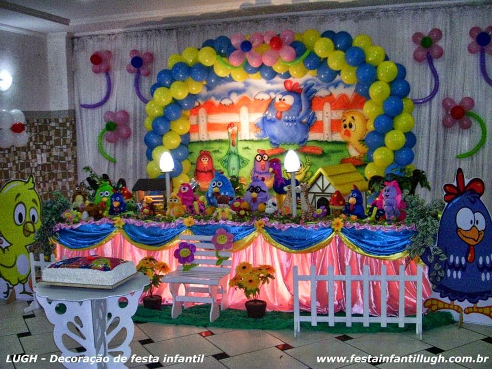 Tema da Galinha Pintadinha para decoração de festa de aniversário infantil