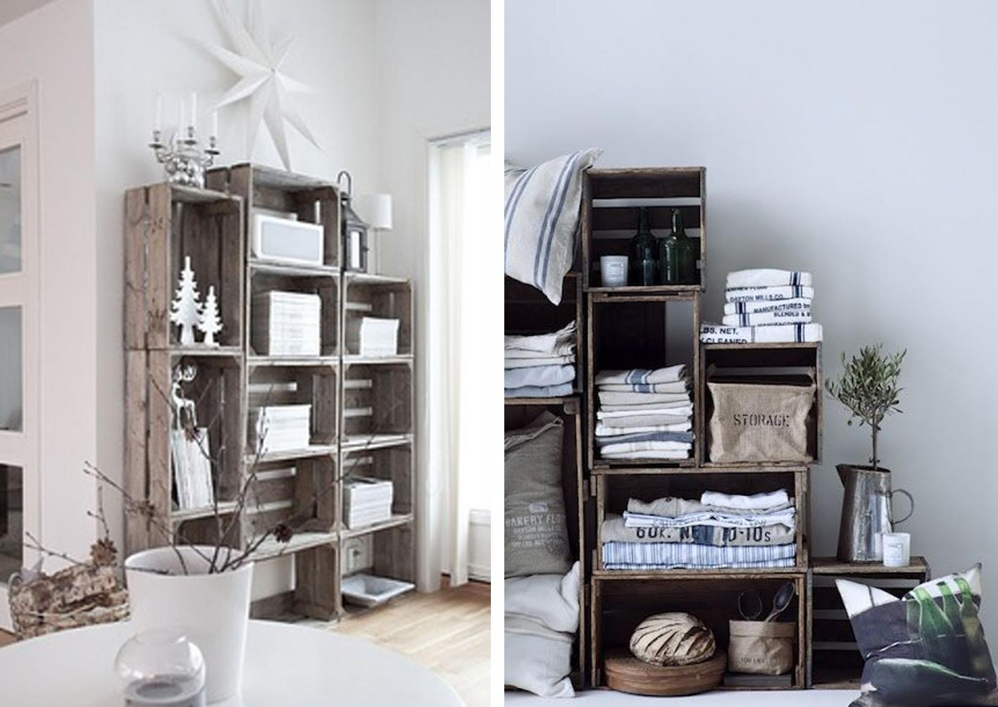 Idea and blog decorar con cajas de madera for Decorar muebles de madera