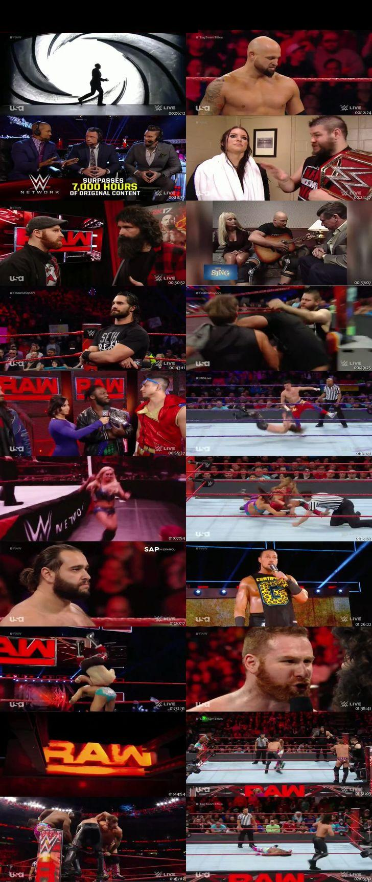 Screen Shot Of WWE Monday Night Raw 12th December 2016 HDTV 480P 375MB