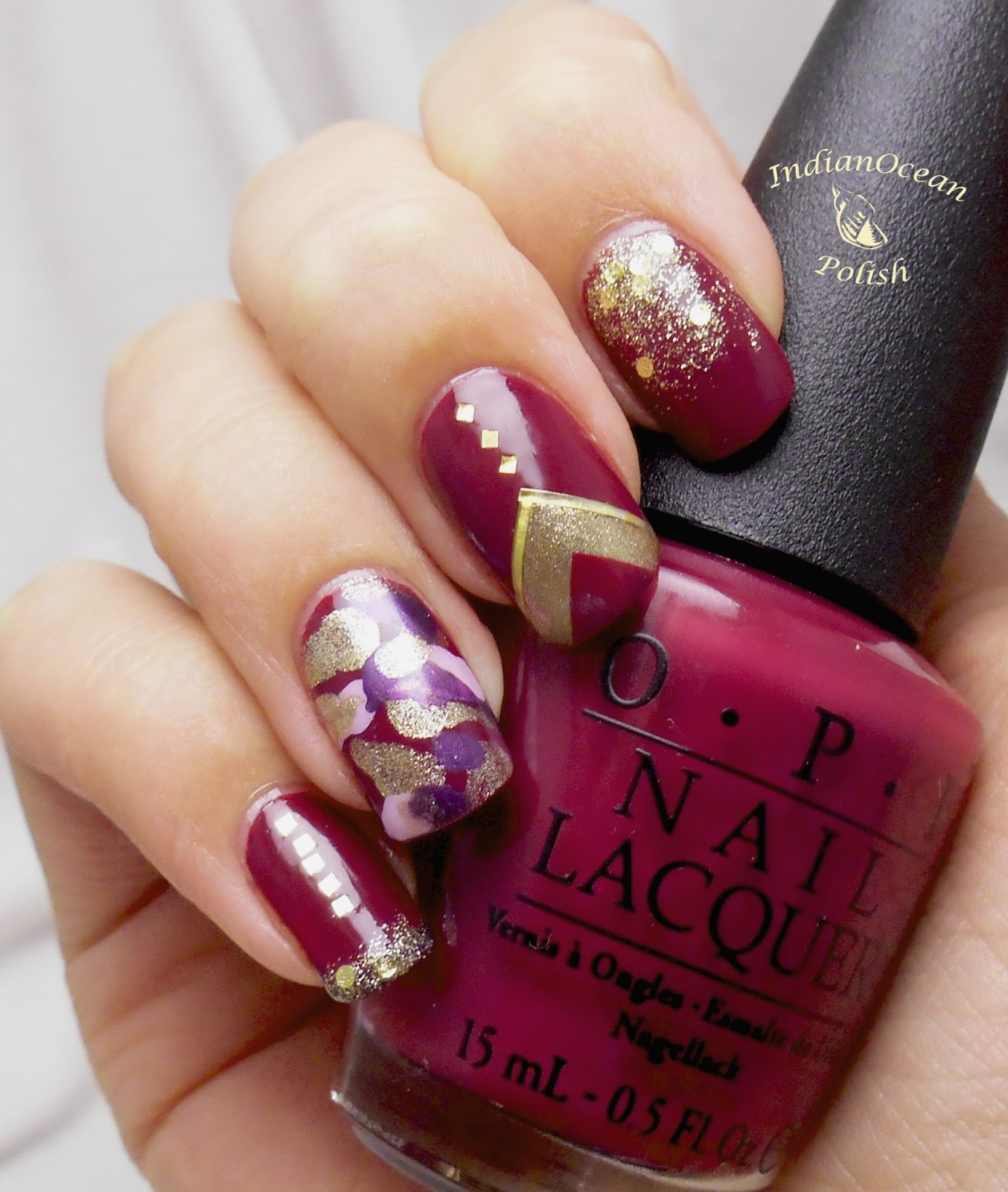 Indian ocean polish purple and gold skittles nail art purple and gold skittles nail art prinsesfo Gallery