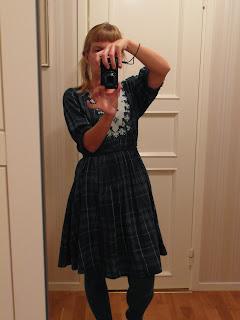 klänning, klänning i blått