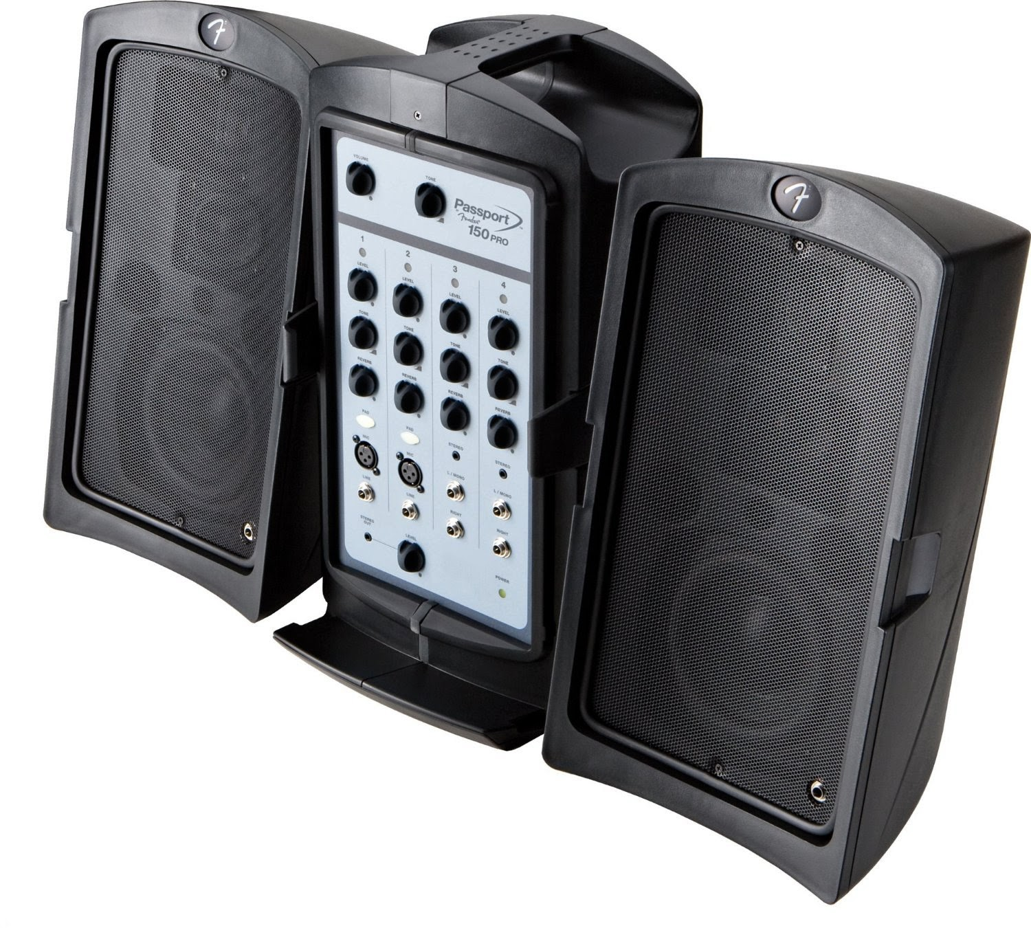 Best fender passport 150 pro portable pa system with mixer for Woofer speaker system
