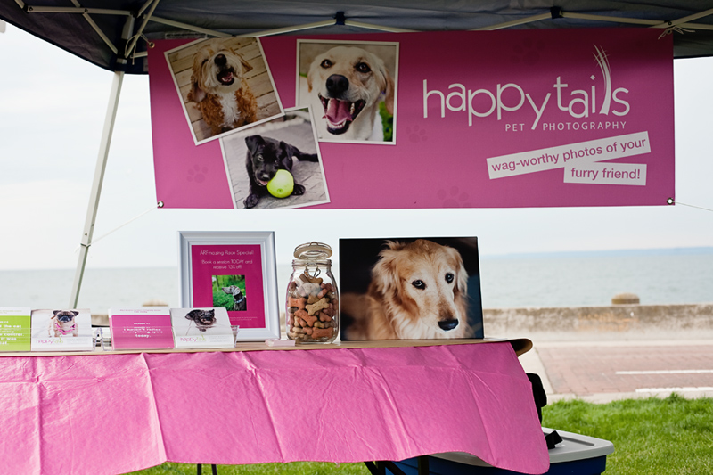 Pink Happy Tails Pet Photography vendor booth at the 2012 Burlington Humane Soceity ARFmazing Race fundraiser in Spencer Smith Park, Ontario..
