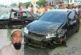 Ustaz Azhar Idrus Kemalangan Jalan Raya