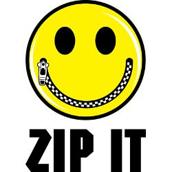 zip it zipper mouth smiley face