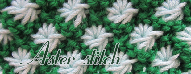 Aster flower knitting stiches