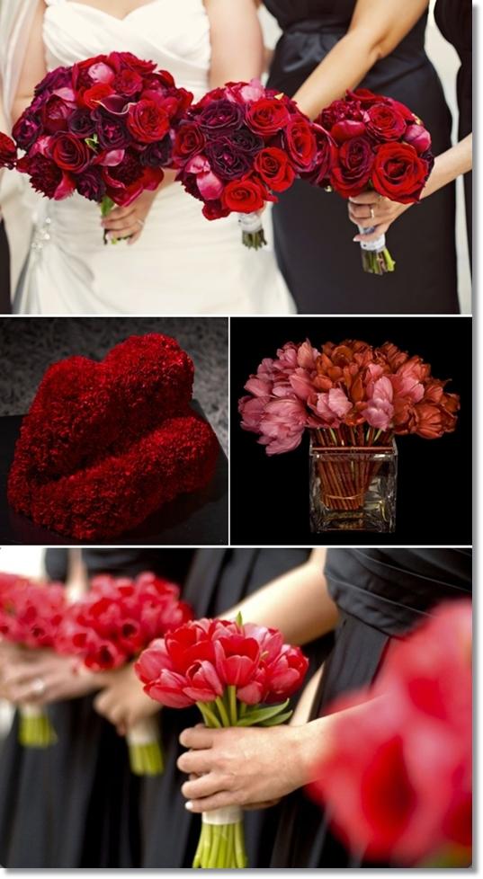 inspiration blommor alla hjärtansdag, inspiration flowers valentine's day, röda blommor, red flowers