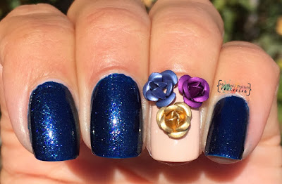 Lady Queen 5mm 3D Metallic Roses