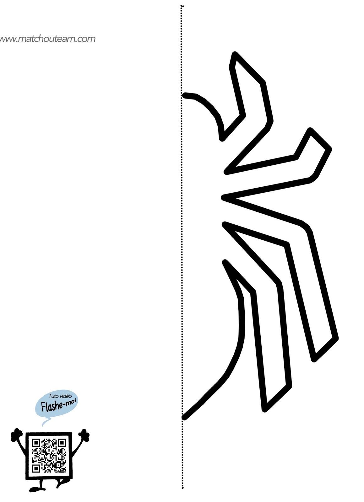 gabarit araignée pochoir