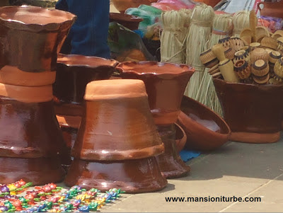 Mexican Handicrafts at the Pottery Fair in Patzcuro