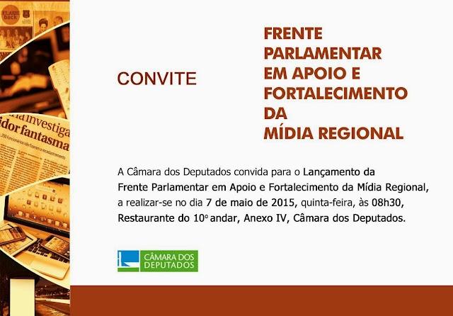 CONVITE - Frente Parlamentar  em Apoio e Fortalecimento da Midia Regional