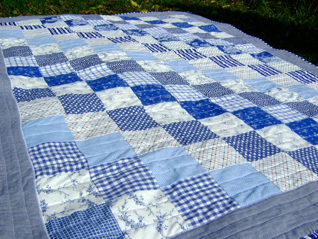 My Rose Valley: Boat quilt - VOILA! : blue and white quilts - Adamdwight.com