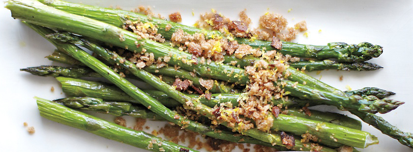 dish delish: oven-roasted asparagus with bread crumbs
