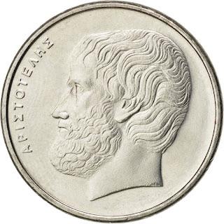 Greek Coins 5 Drachmes Aristotle