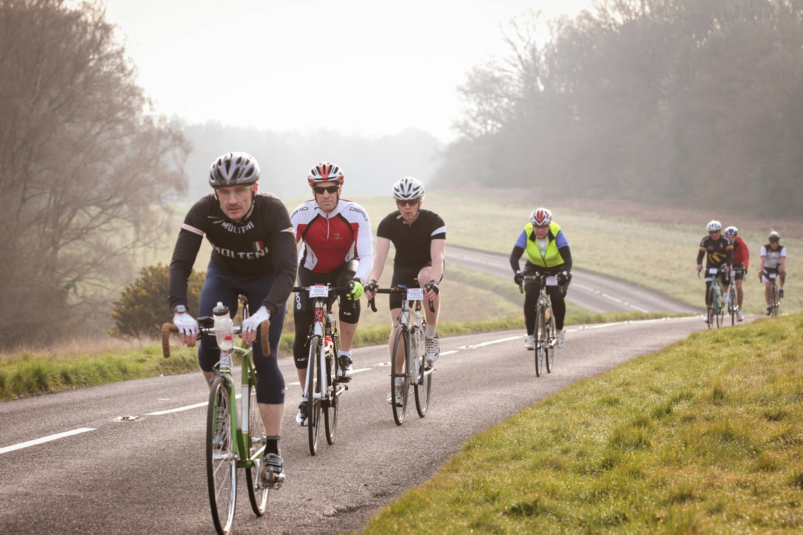 Cyclists in Surrey, UK