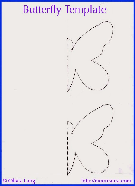 Moomama diy 3d butterfly wall art with free templates for Butterfly template pdf