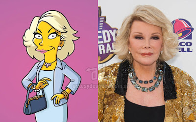Joan Rivers simpsons artis+kartun Tokoh tokoh selebriti dalam serial kartun The Simpson