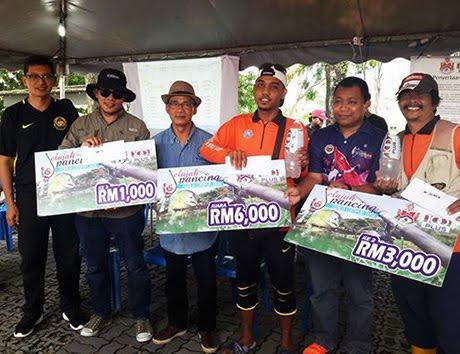 Wajah Para Pemenang Utama Jelajah Pancing KL di Tasik Ampang Hilir