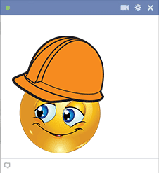 Construction Facebook Smiley