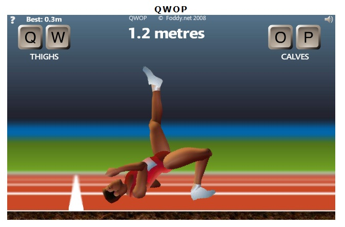 Strange moments in gaming qwop the flash running simulator from hell standing upright has never been this tough ccuart Image collections
