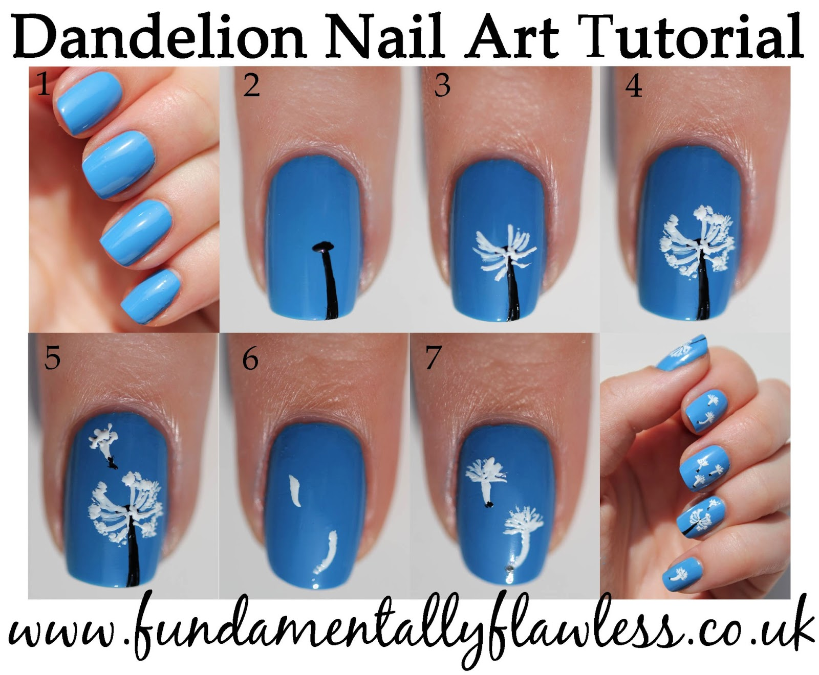 Fundamentally Flawless Manicure Monday Dandelion Nail Art Tutorial