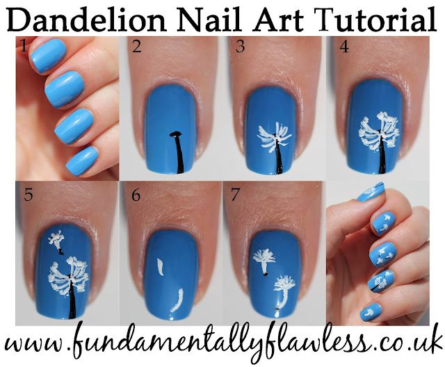 Fundamentally Flawless: Manicure Monday: Dandelion Nail Art Tutorial