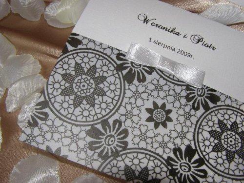 Invitación flores elegantes para boda