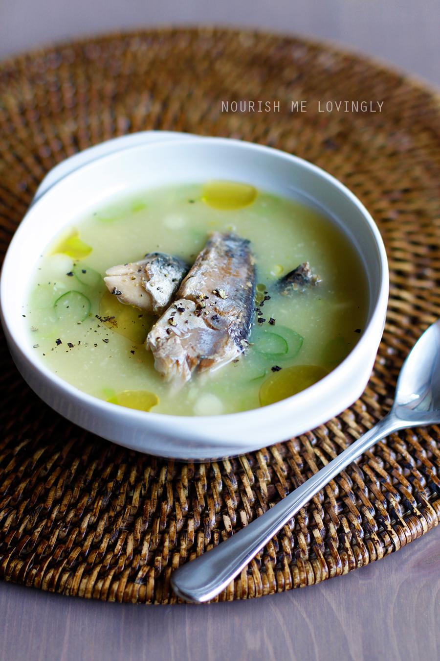 Nourish me lovingly creamy fish soup gaps for Creamy fish soup recipe