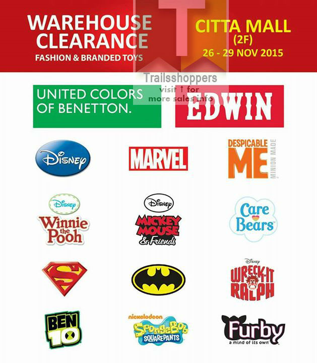 United Colors of Benetton Malaysia Fashion & Branded Toys Warehouse Clearance