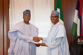 Senate President Saraki presents list of confirmed Ministers to President Buhari