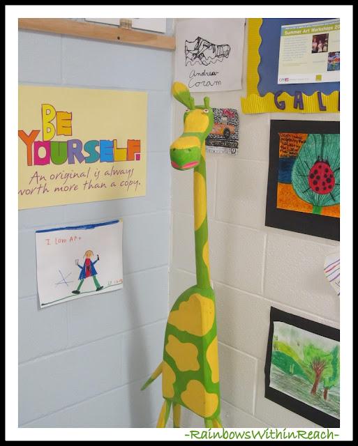 photo of: Art Room Mascot (Art Room RoundUP via RainbowsWithinReach)