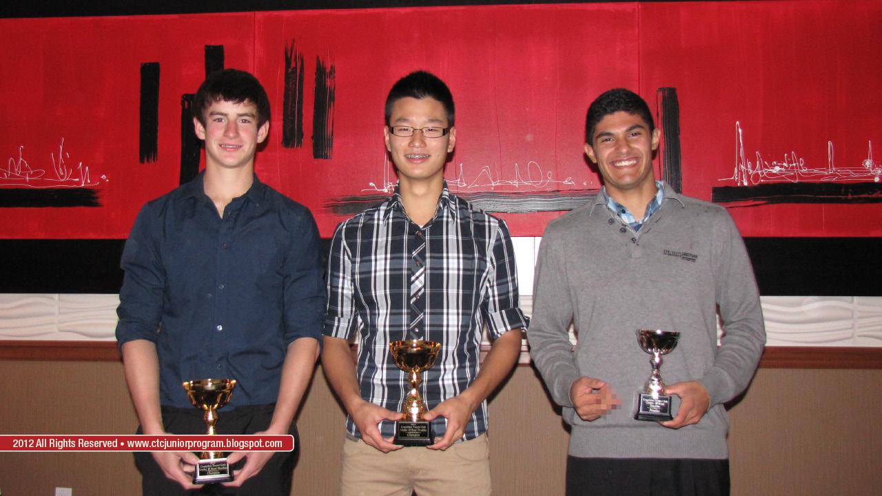 U18 Club Doubles Champion: Alexander Baumann and Steven Shen