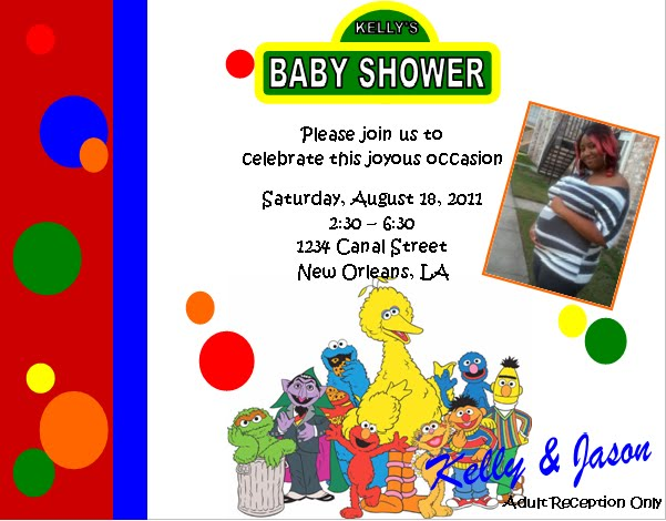 Solutions event design by kelly sesame street baby shower invitations - Sesame street baby shower ...