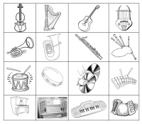 Music Lesson Printables: Musical Instruments 2: Instrument Families