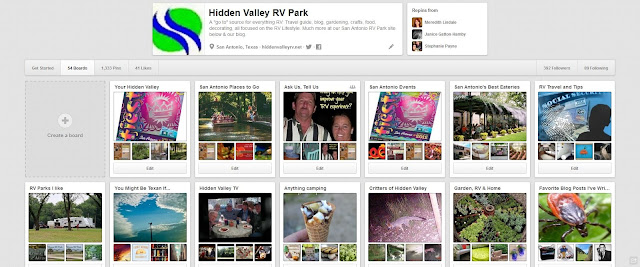 Hidden Valley RV Parks Pinterest Page